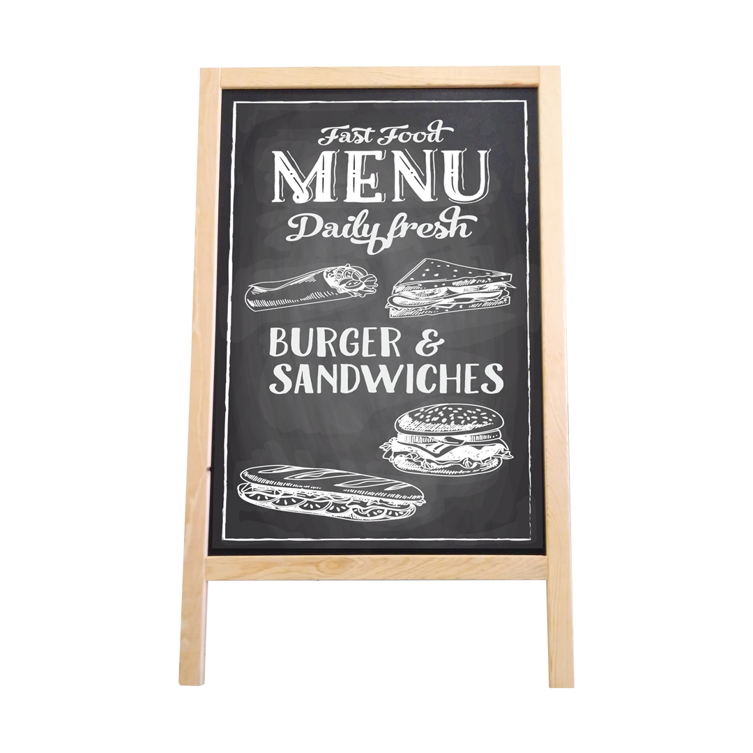 Roof Type Double Sided Menu Board