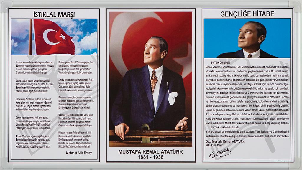 Atatürk Köşesi Elegant Çerçeve