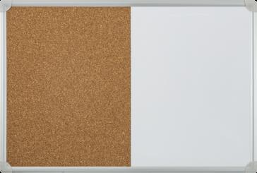 Double Function White & Cork Board