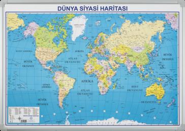Dünya Siyasi Haritası – Elegant Çerçeveli