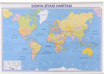 World Political Map – Slatted