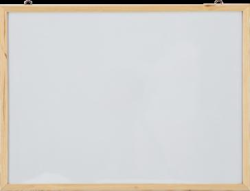 Laminate Surface Wood Frame Wall Mounted Writing Board