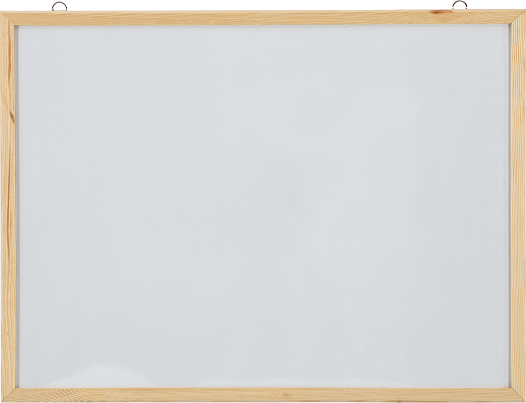 Laminate Surface Wood Frame Wall Mounted Writing Board