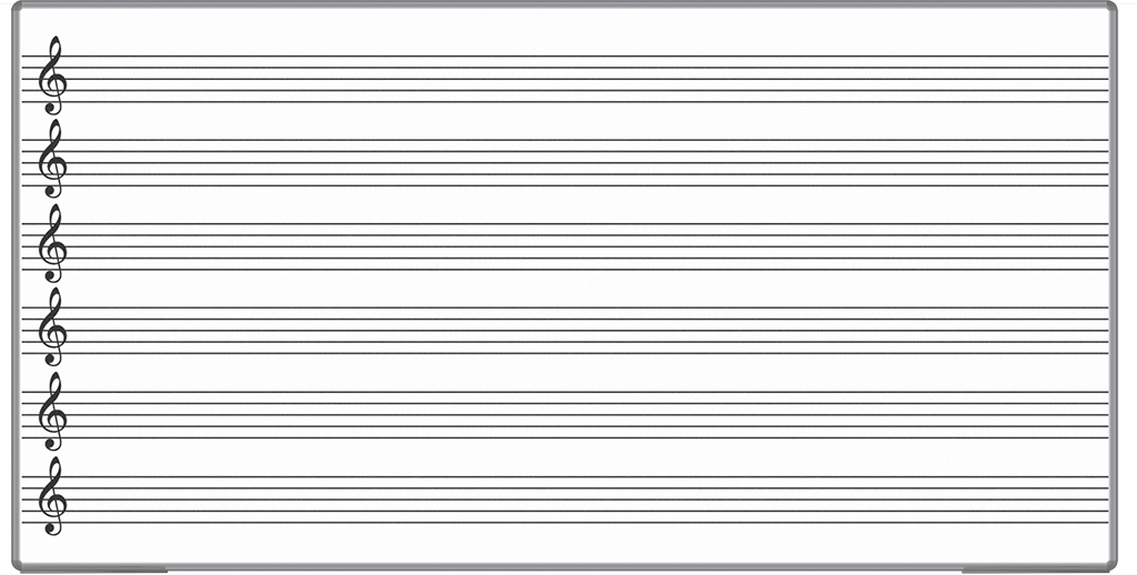 Musical Notes Lined Clipboard