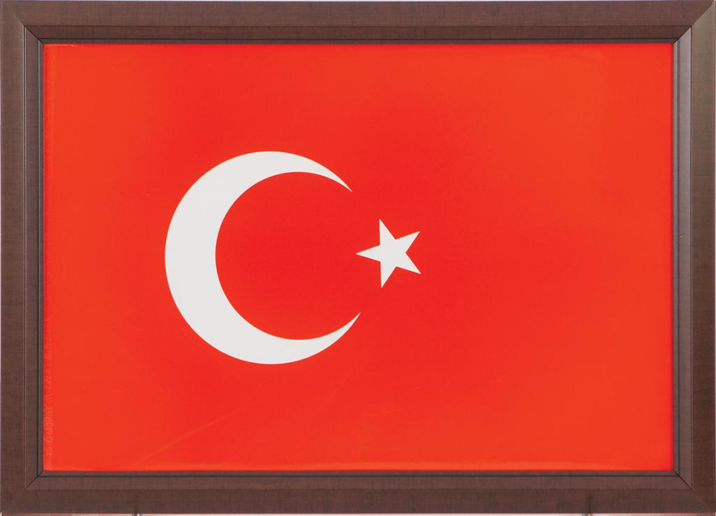 Türk Bayrağı Laminant Çerçeve