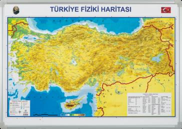 Türkiye Fiziki Haritası – Elegant Çerçeveli