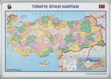 Türkiye Siyasi Haritası  – Elegant Çerçeveli