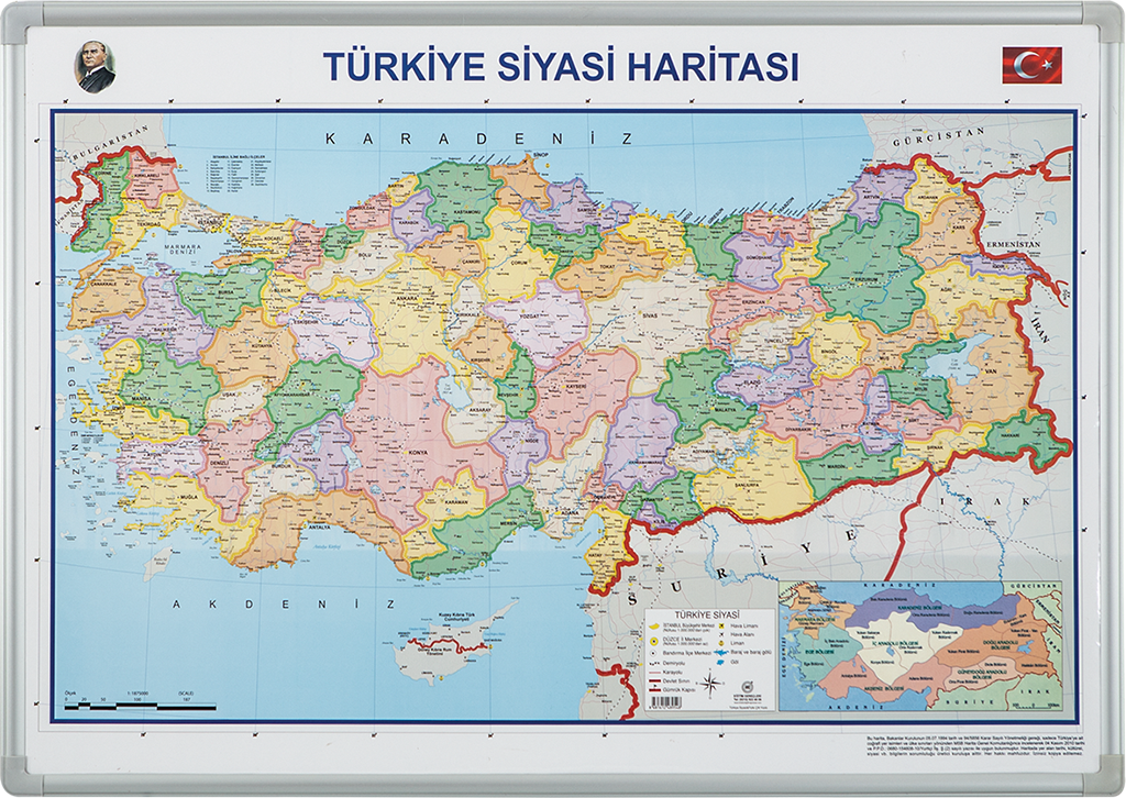 Turkey Political Map – Elegant Framed
