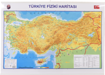 Turkey Political – Physical Map Slatted