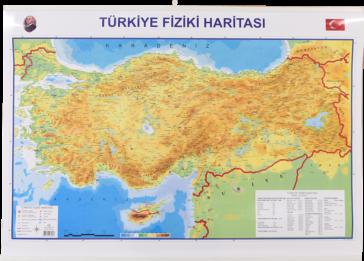 Türkiye Siyasi – Fiziki Haritası Çıtalı